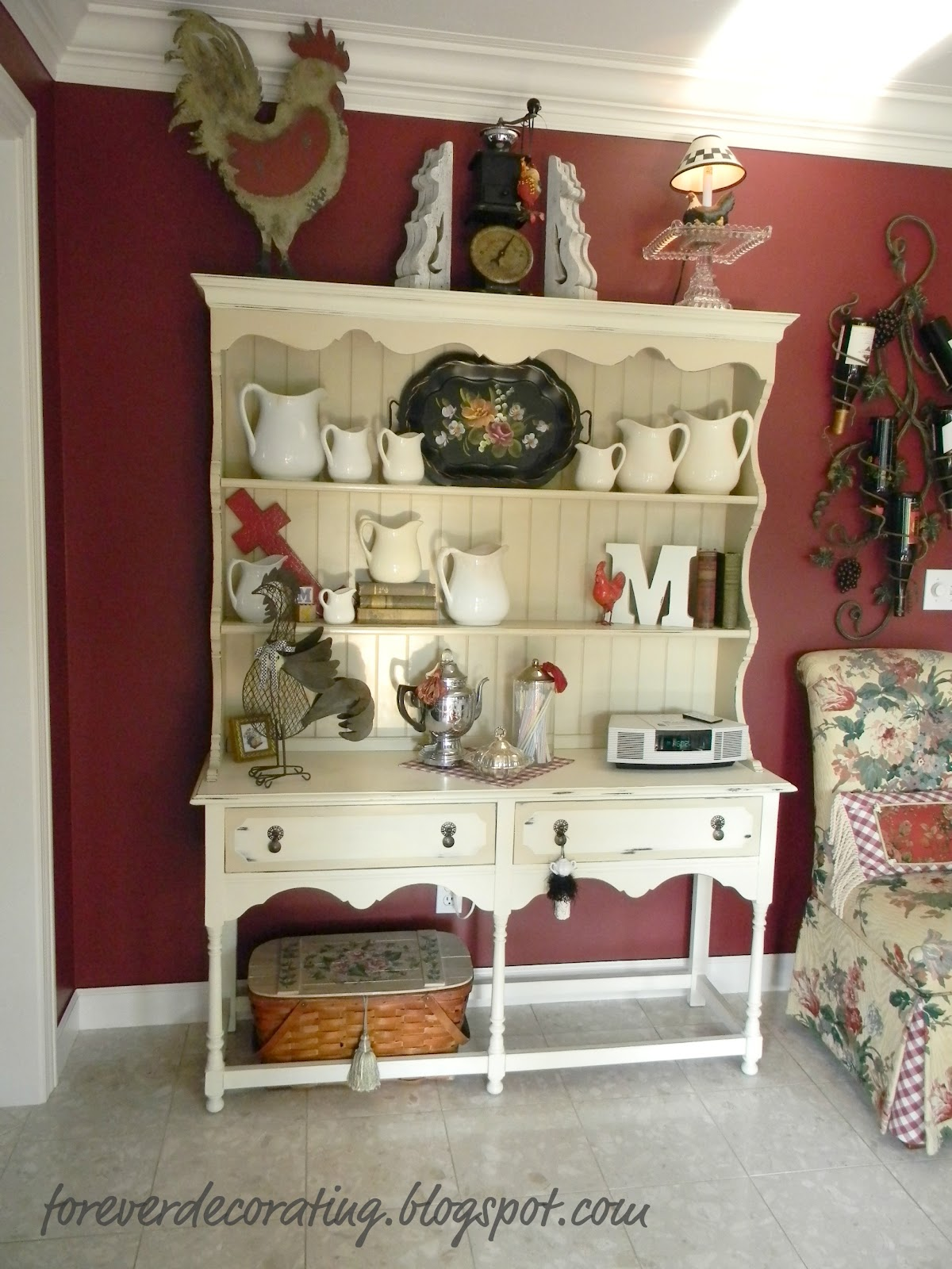 Forever decorating hutch decor 101 107 for Hutch decor