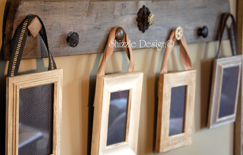 Custom Designed Reclaimed Wood Picture Display