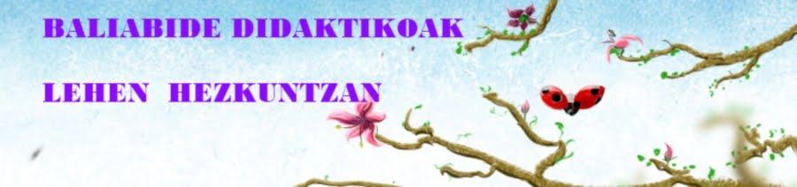 BALIABIDE DIDAKTIKOAK LEHEN HEZKUNTZAN