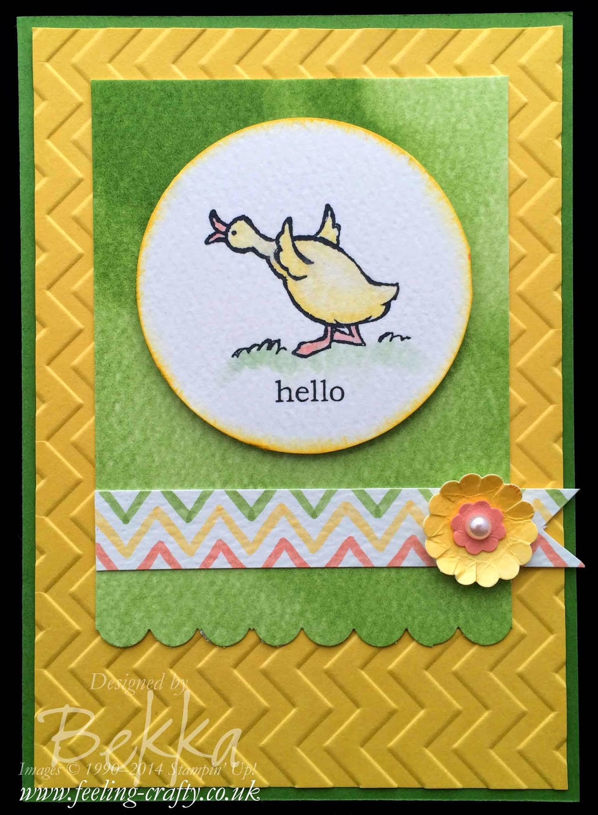 Hello Duck Storybook Friends Card by Stampin' Up! UK Demonstrator Bekka - what a lovey way to keep in touch!
