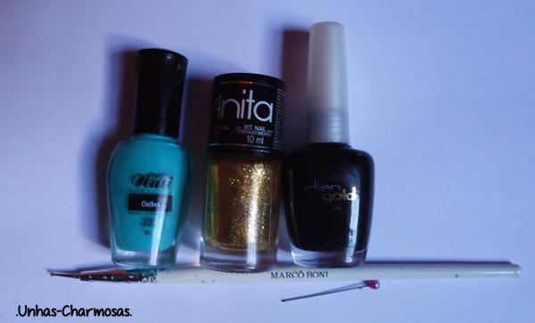 nail art, nail art oncinha, como fazer unhas de oncinha, tutorial, tutorial nail art oncinha, short, Passe Nati, Cleópatra, Anita, Black, Ellen Gold, unhas de oncinha
