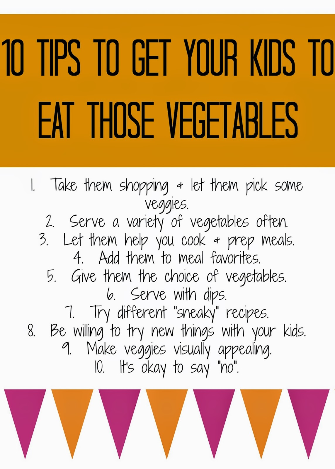 Tips to Get Kids to Eat Vegetables : The Chirping Moms