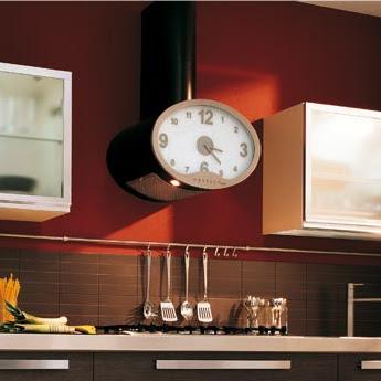 Original extractor de cocina con forma de reloj