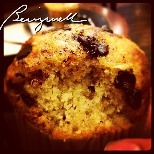 Starbuck's Banana choco-chip muffin