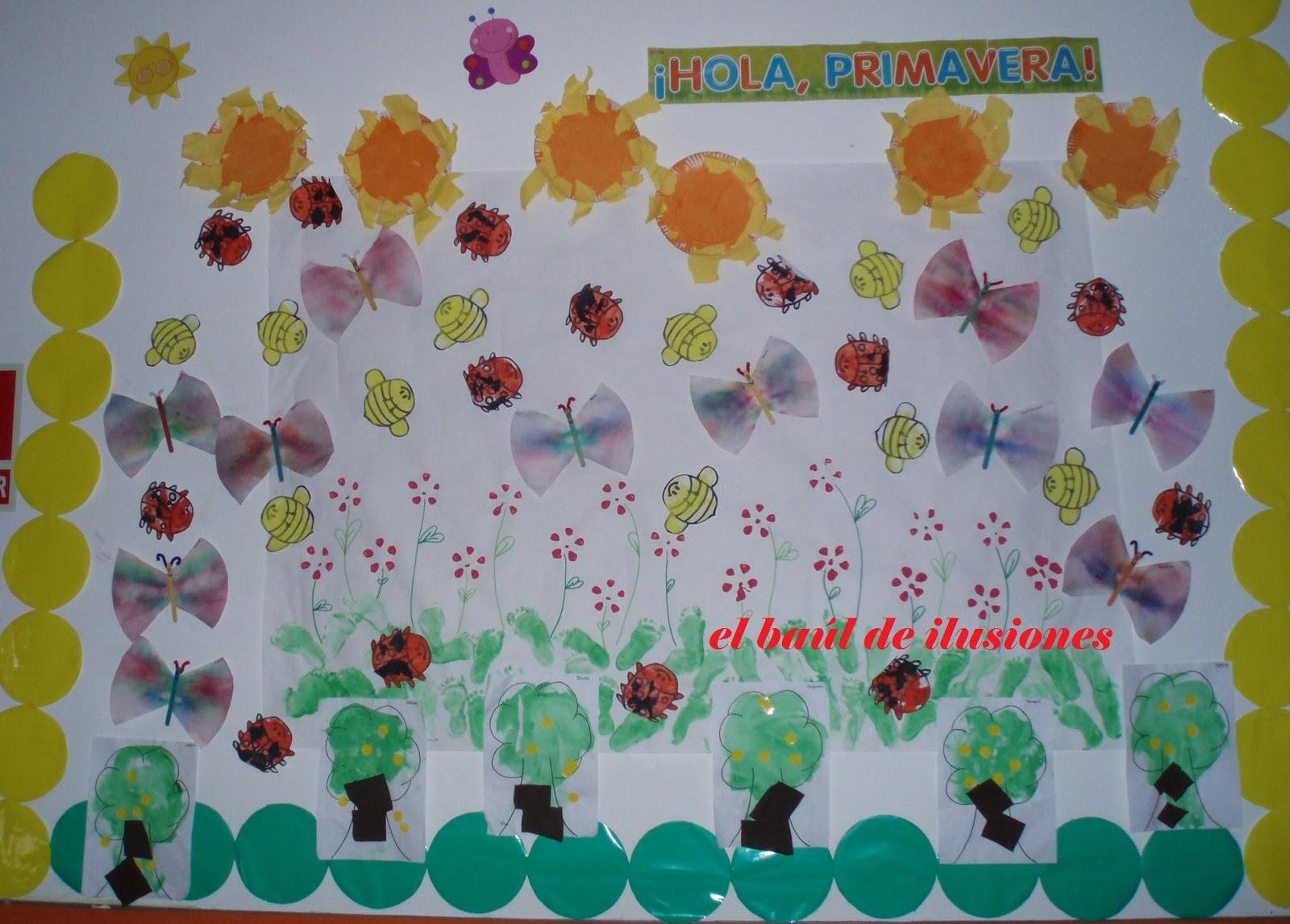 Baul de ilusiones decoraci n de primavera - Decoracion para foto ...