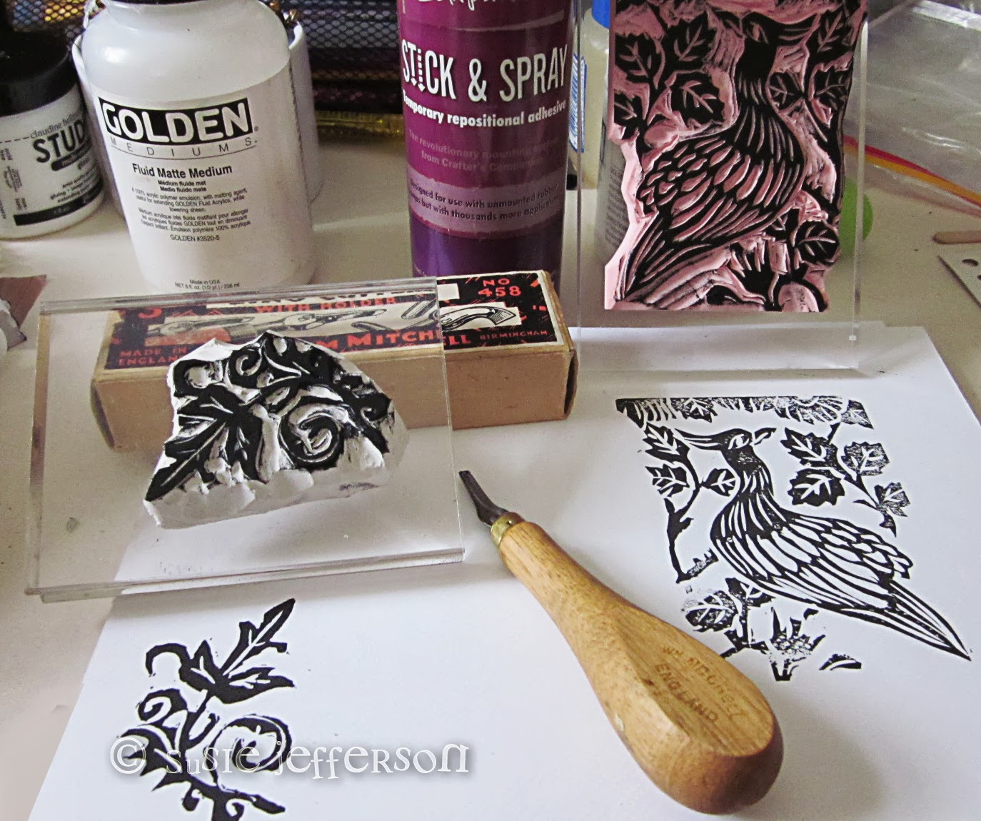 Stamp carving st floor flat