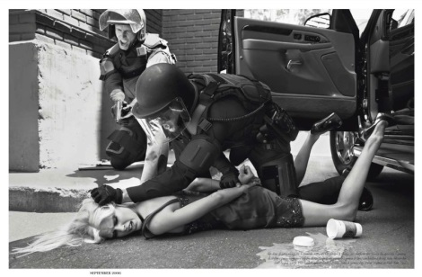 Riot Squad by Steven Meisel for Vogue Italia