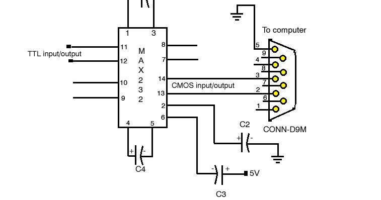 techpicz  ttl  cmos  rs232 logic converter