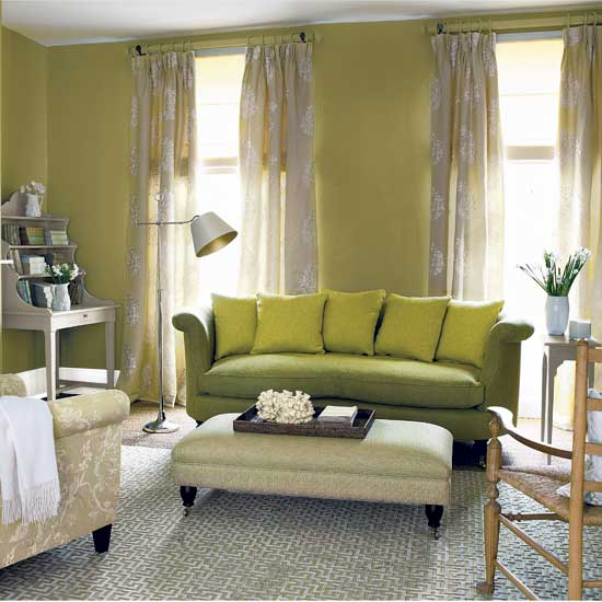 Intra design september 2012 for Green living room ideas