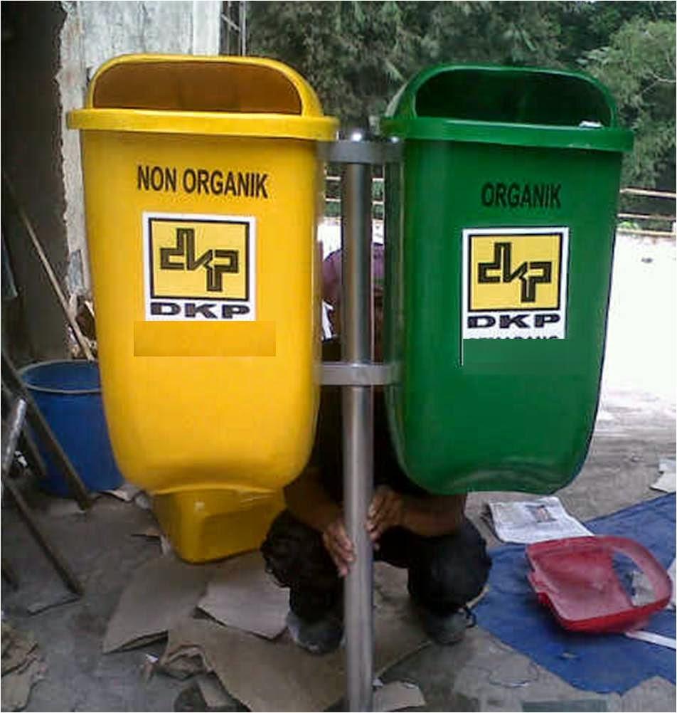 tong sampah fiber pilah 2