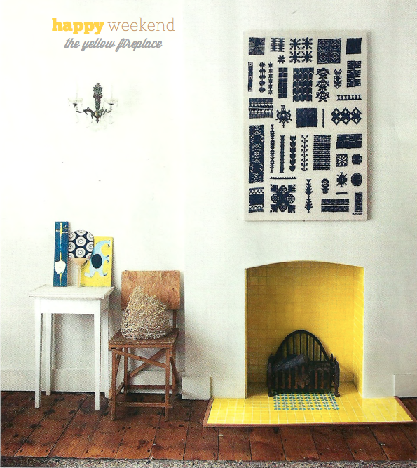 Cheerful Summer Interiors 50 Green And Yellow Kitchen: Happy Weekend: Beautiful Yellow Fireplace