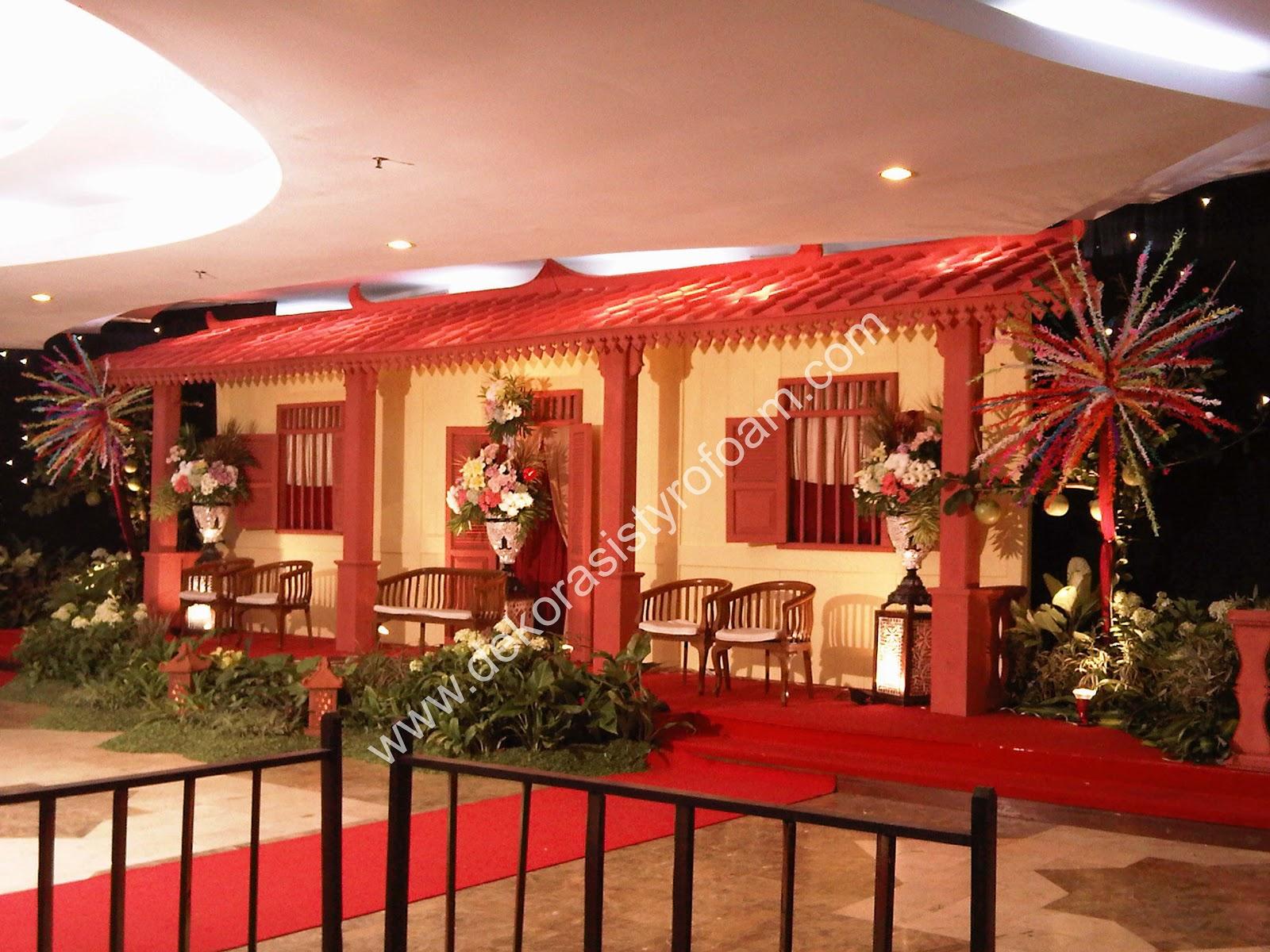 Dekorasi styrofoam pelaminan styrofoam betawi for Dekorasi lebaran hotel
