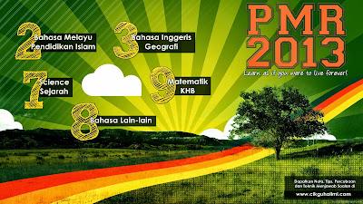 Gunakan Jadual PMR 2013 kat atas ini sebagai wallpaper anda!