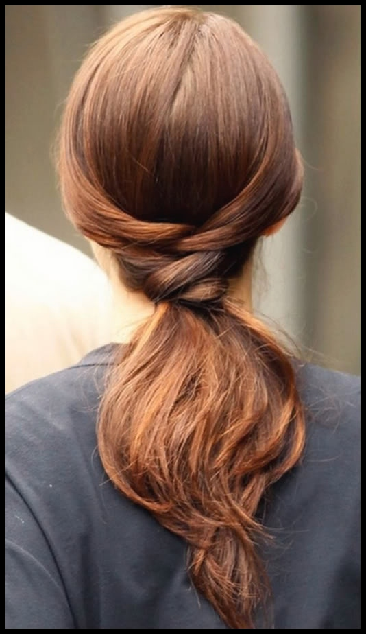 Flip ponytail updos for long hair