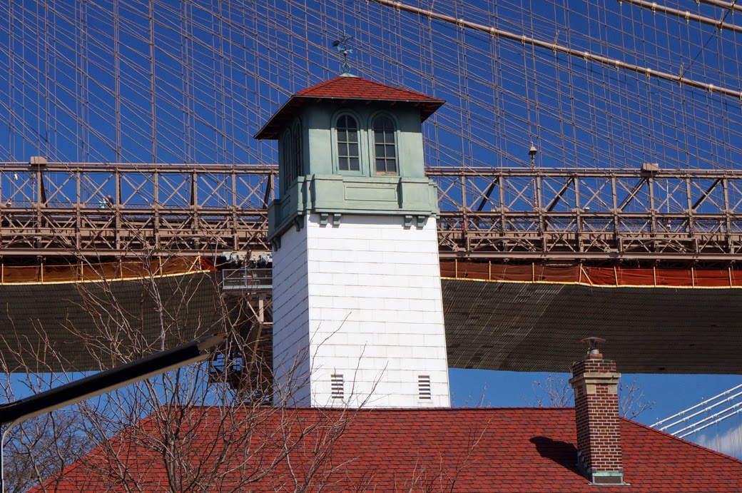 Fire hose drying tower on Fireboat House - Brooklyn Ice Cream Factory