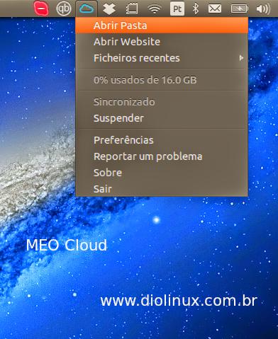 MEO Cloud Cliente para Ubuntu