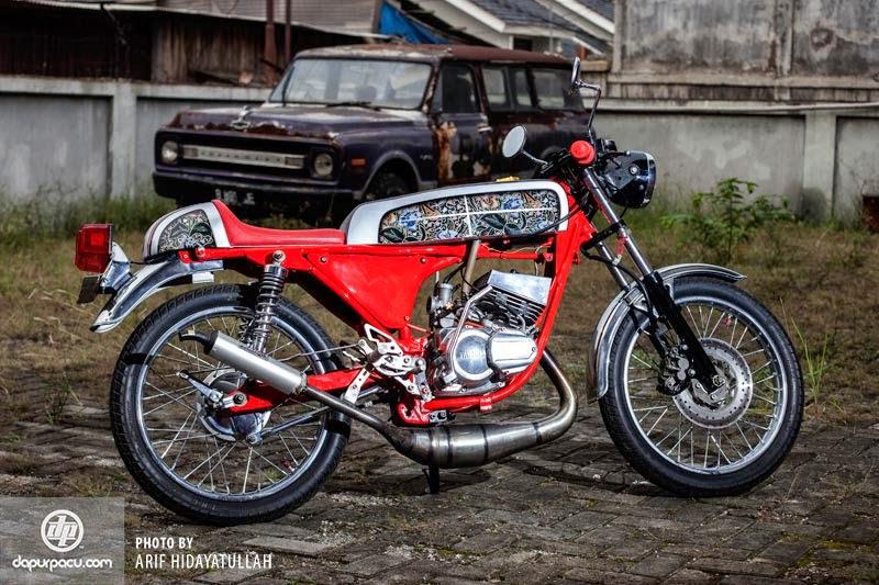 modifikasi motor rx king cafe racer  tahun ini
