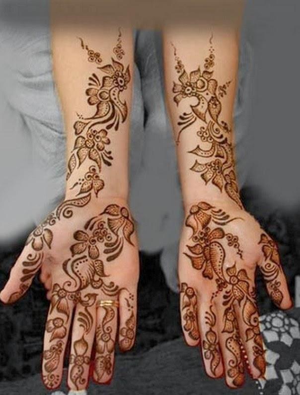Elegant Bridal Mehndi Designs : Beautiful but simple mehndi design for girls all