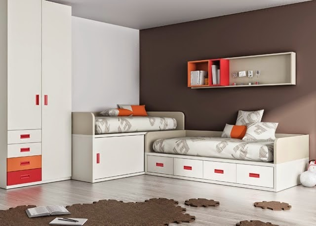 Habitacion con camas cruzadas