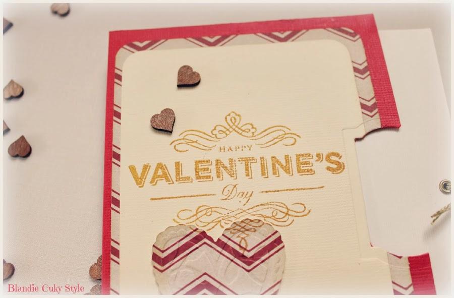 ¿Pensando en felicitar San Valentín? Toma nota de esta tarjeta hecha con Scrapbooking