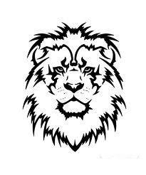 Motif Tato Singa Hitam Putih11