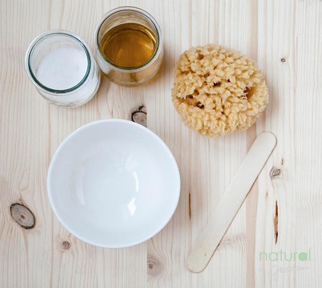 Peeling de aceite de oliva y sal marina fina