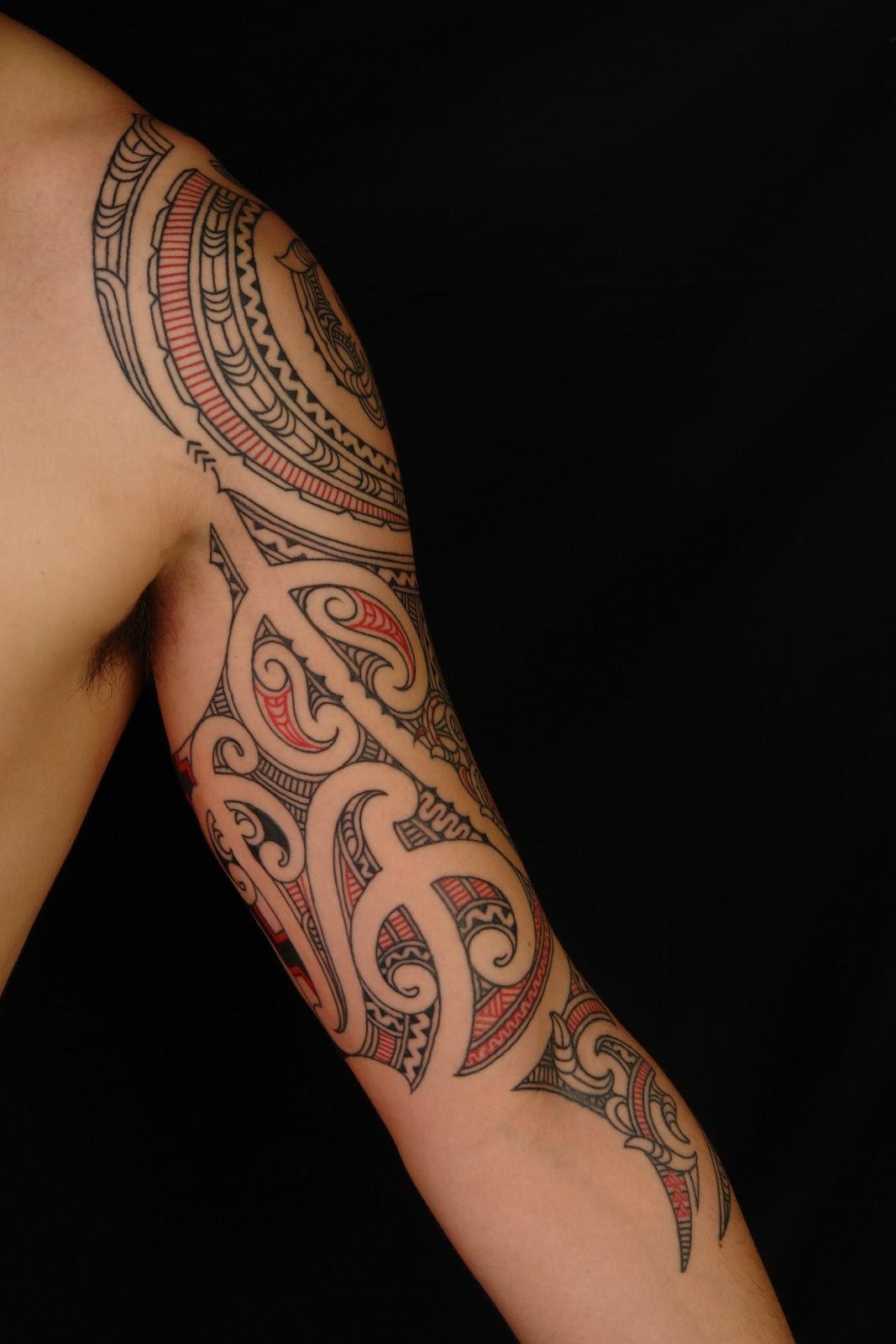 Maori polynesian tattoo maori 3 4 sleeve for 1 4 sleeve tattoo
