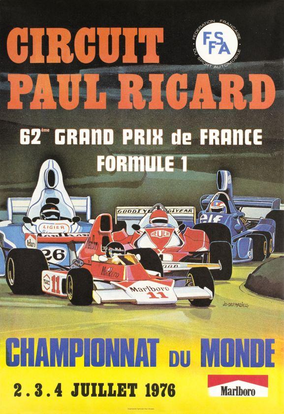 transpress nz 62nd grand prix de france formula 1 poster 1976. Black Bedroom Furniture Sets. Home Design Ideas