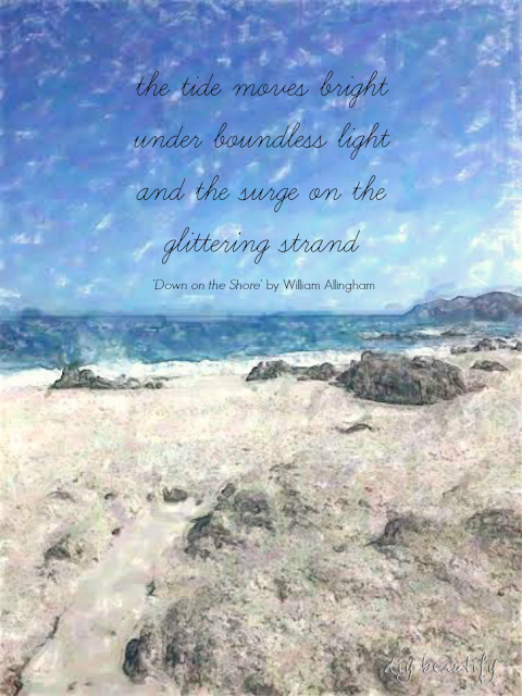 Easy beach art created with the Photo Painter App. See more at DIY beautify.