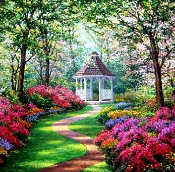 Nature Garden Design Will Bring You To Create The Landscape Area With More  Plants And Flower, About Which Color Of Them Simply Make It Little Bit Same  Color ...
