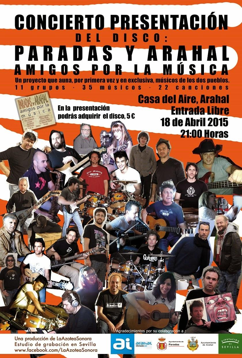 Cartel promocional del concierto de presentación del disco