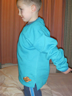 beaver scout uniform sweatshirt in turquoise