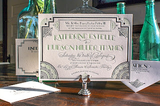 Art Deco wedding stationery 3 by Lucky Luxe