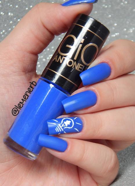 nail art blue