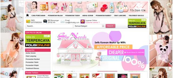 TokoABG.com Menjual Kosmetik Original Terpercaya