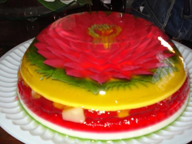 Arcoíris De Frutas: Combinación de frutas y gelatina de sabor con ...