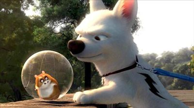 Bolt Rhino Bolt 2008 Travolta Cyrus animatedfilmreviews.blogspot.com