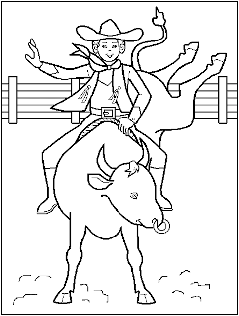 free rodeo cowboy coloring pages - Rodeo Coloring Pages