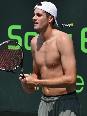 John Isner Shirtless at Miami Open 2011
