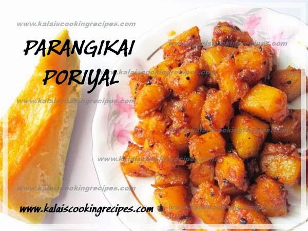 Pumpkin | Parangikai | Manjal Poosanikai Poriyal -Kadhai Stir Fry