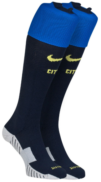 Kaos Kaki Bola dan Futsal Grade Ori 2014-2015 Manchester City Nike Away Socks (Navy-Black)