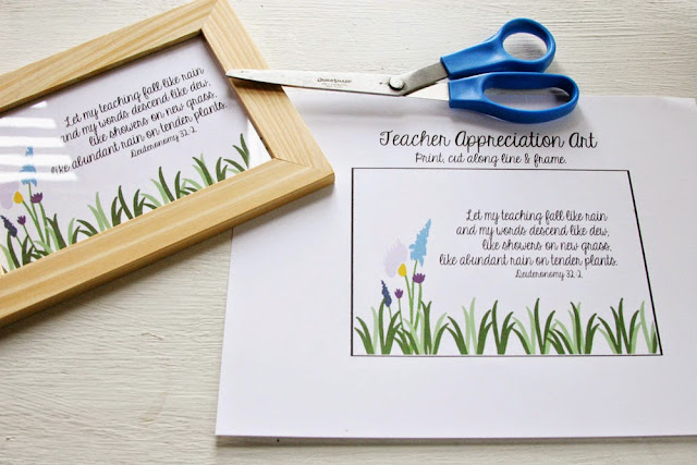 Teacher Appreciation Gift and Gift Card Holder with FREE Printable by Craftivity Designs