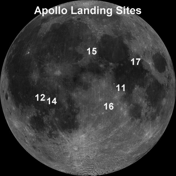 lunar landing sites visible from earth - photo #23