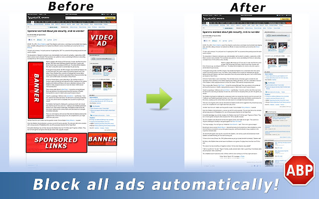 Diffrence between before and after using ABP