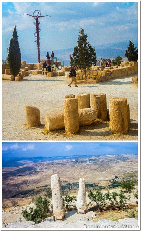 Monte Nebo; Jordânia; the Brazen Serpent Monument; Jordan