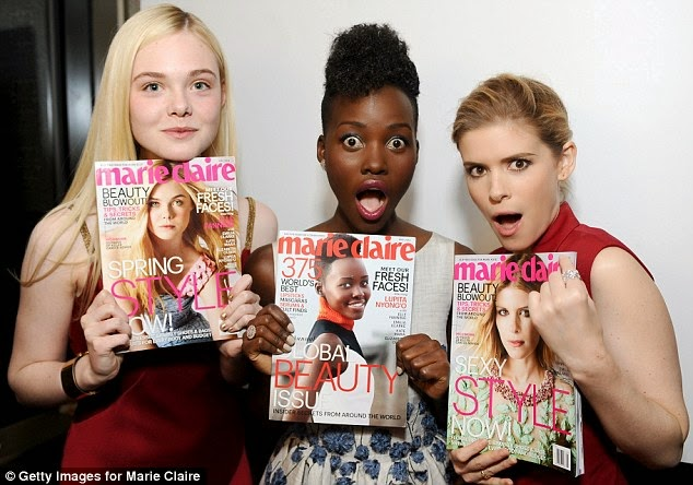 Picture Lupita Nyong'o, Kate Mara, Elle Fanning, Emilia Clarke and Elizabeth Olsen are Marie Claire Fresh Face Cover Girls