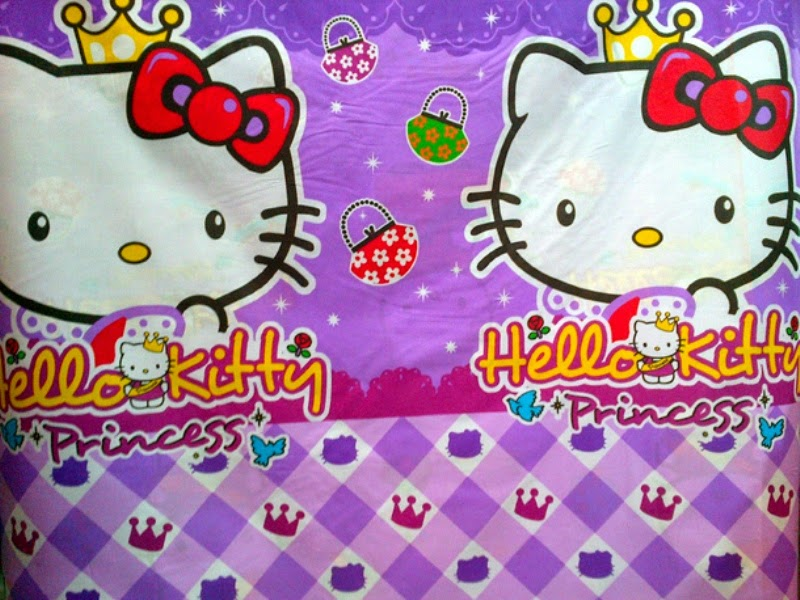 Gambar wallpaper Hello Kitty ungu gratis download