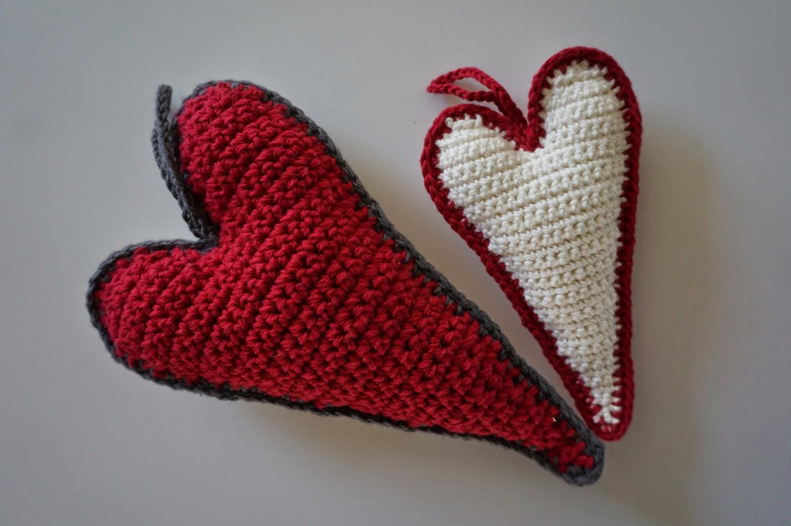 stort hæklet hjerte