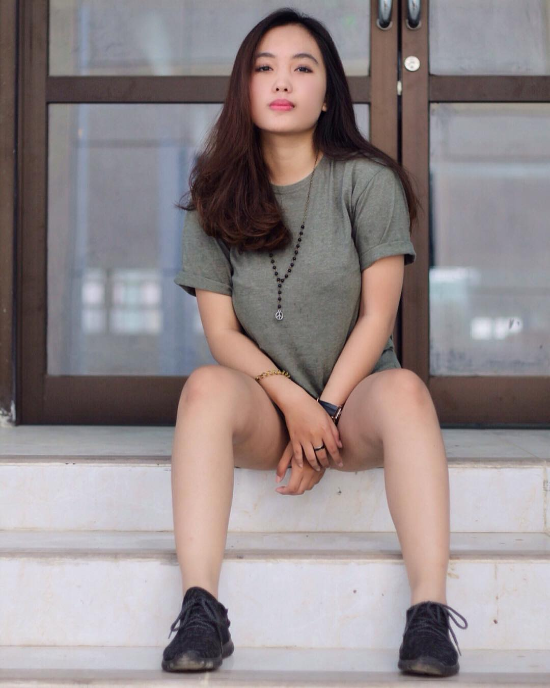 Foto Model Cewek Kaos Distro Bandung Kumpulan Foto Model Distro
