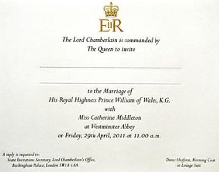 Royal wedding invitation mix magazine the official wedding invitation of prince william stopboris Gallery